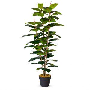 Kunstplant Ficus Elastica H130cm - HTT Decorations