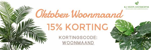 Oktober Woonmaand - Kunstplantshop.nl