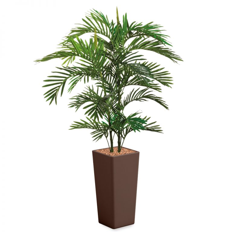 HTT - Kunstplant Areca palm in Clou vierkant bruin H185 cm - kunstplantshop.nl