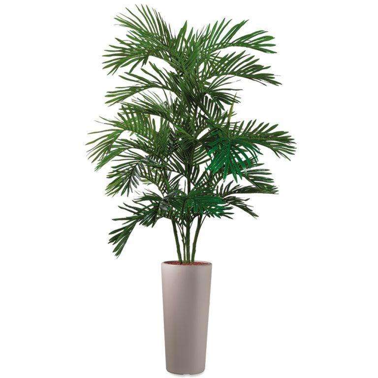 HTT - Kunstplant Areca palm in Clou rond taupe H215 cm - kunstplantshop.nl