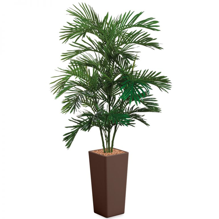HTT - Kunstplant Areca palm in Clou vierkant bruin H215 cm - kunstplantshop.nl